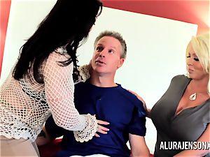 Alura Jenson mummy 3 way pound with Brandi May