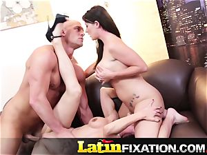 LatinFixation molten three-way with Sophie Dee