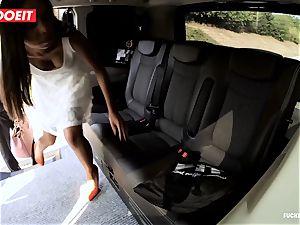 LETSDOEIT - mischievous teenage penetrates and deep-throats cab Driver