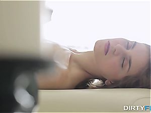 bony nubile bum-fucked on the massage table