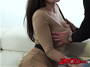Kendra enthusiasm attacks a gigantic bum wood with all her crevasses