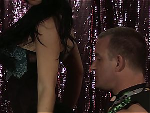 Rebeca Linares is a sultry gypsy with big globes