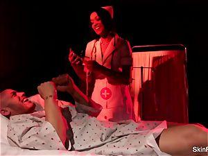 Behind the episodes with marvelous nurse flesh Diamond