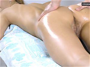 Lika Volosatik stunning fur covered massage