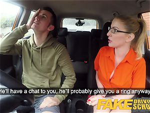 faux Driving school examination failure leads to steaming hook-up