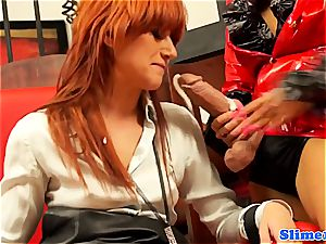 Lucy Bell and Jenna lovely down for bukkake load