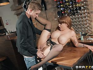 Danny plunging his ample spear into super-steamy redhead