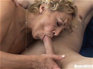 Souled grandma deepthroating And poking firm man rod