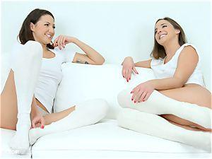 voluptuous lezzies Amirah Adara and Suzy Rainbow