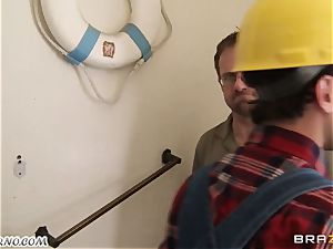 employee penetrates his big-chested customer Ava Addams