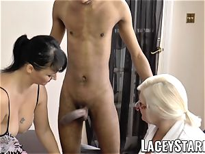 LACEYSTARR - Mature doctor poked by multiracial couple
