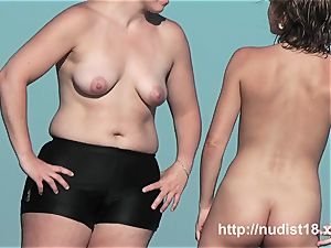 Real beach hidden cam awesome dark haired nubile on the sand