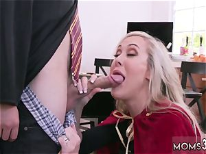Mature mummy first time Halloween exclusive With A threesome