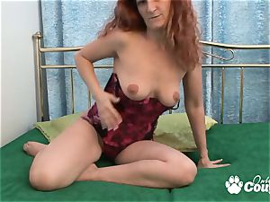 redhead cougar getting off with ginormous fuck stick