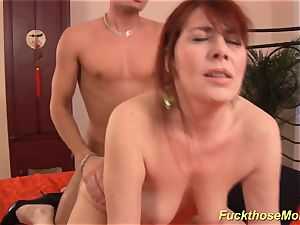 red-haired stepmom need a heavy manstick