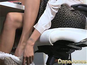 Dane Jones super-sexy nubile dark-hued office chick