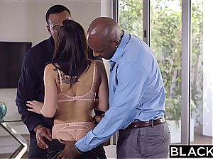 BLACKED spectacular college girl Aidra Fox Takes two BBCs