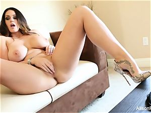 big titted sweetheart Alison Tyler plays with her fuckbox