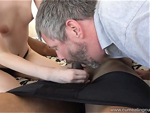 Ivy Aura pounds Neighbor in Front of Her elderly hubby