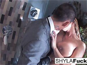 Shyla's assfuck pummeling in the shower