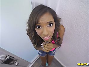 black thief Raven Wylde caught and strenuously fuckbox rammed pouch deep
