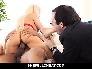 SheWillCheat - Latina wife Creampied By bbc