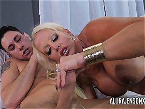 thick funbag cougar Alura Jenson enjoys poking junior boys