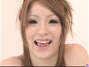 Nana Kinoshita sucks and pounds in perfect point of view
