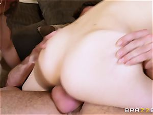 meaty Mobs milf Nina Elle instructs her stepson how to behave with youthful ladies