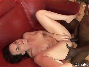 brown-haired cutie Dana gets an interracial assfuck humping