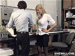 SheWillCheat - huge-chested mummy chief pounds new worker
