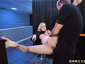 Bailey Brooke gets frisky with the suspended bouncer