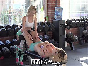 SpyFam Step brutha Catches Step Sisters munching vagina