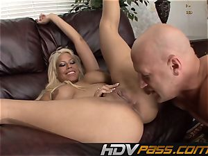 Bridgette with immense knockers loves rump licking