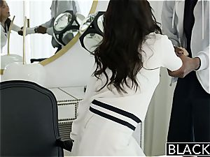 BLACKED Megan Rains first-ever practice With massive black shaft Part 1