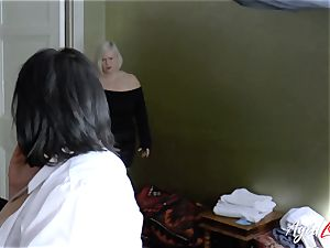 AgedLovE busty motel Maid Lacey Starr 3 way