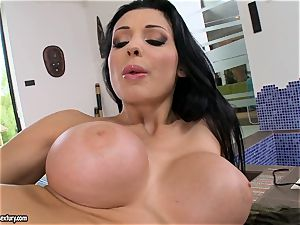 cool super-fucking-hot Aletta Ocean tears up her fuck-hole deeper with an awesome fucktoy weenie