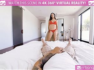 VR porn - buxom Abella Danger casting couch get horny
