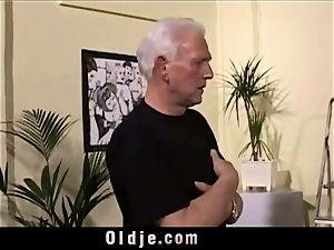 vintage aged Teenie female plumbed grey hair grandfathers