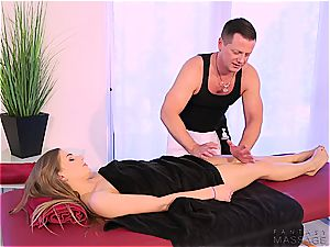 steaming step-sister humped by her masseuse step-brother
