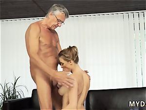 elder guy threesome two gals and new step daddy orgy with her boycompeer´s dad after