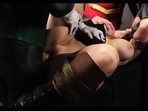 Justice League gonzo part 5 - Hero fuckfest with Romi Rain