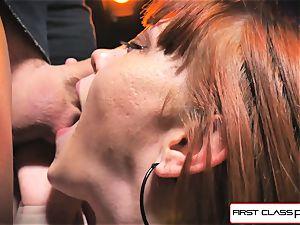 first Class point of view - Alexa Nova deepthroating a large pecker in pov