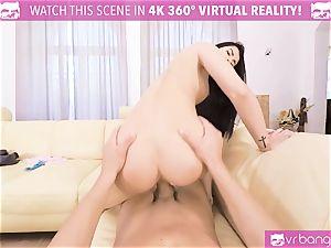 VR PORN-Hot dark-hued penetrated rock hard pov