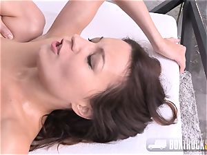 Roxy Dee thrilled with a massager moans quitely