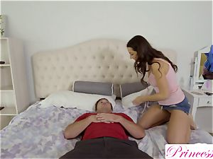 Lily Adams tears up her insatiable stepbrother