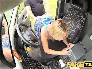 faux taxi Mum with inborn bra-stuffers gets hefty british man-meat