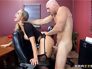 super-steamy chief Nicole Aniston taking a hefty manmeat in the office