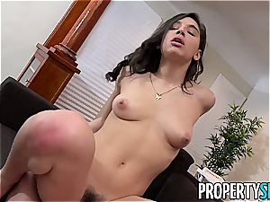Abella Danger ferociously heads down on a successful student's salami