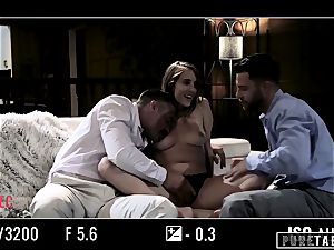 pure TABOO stunner Tricked Into revenge threeway with Strangers